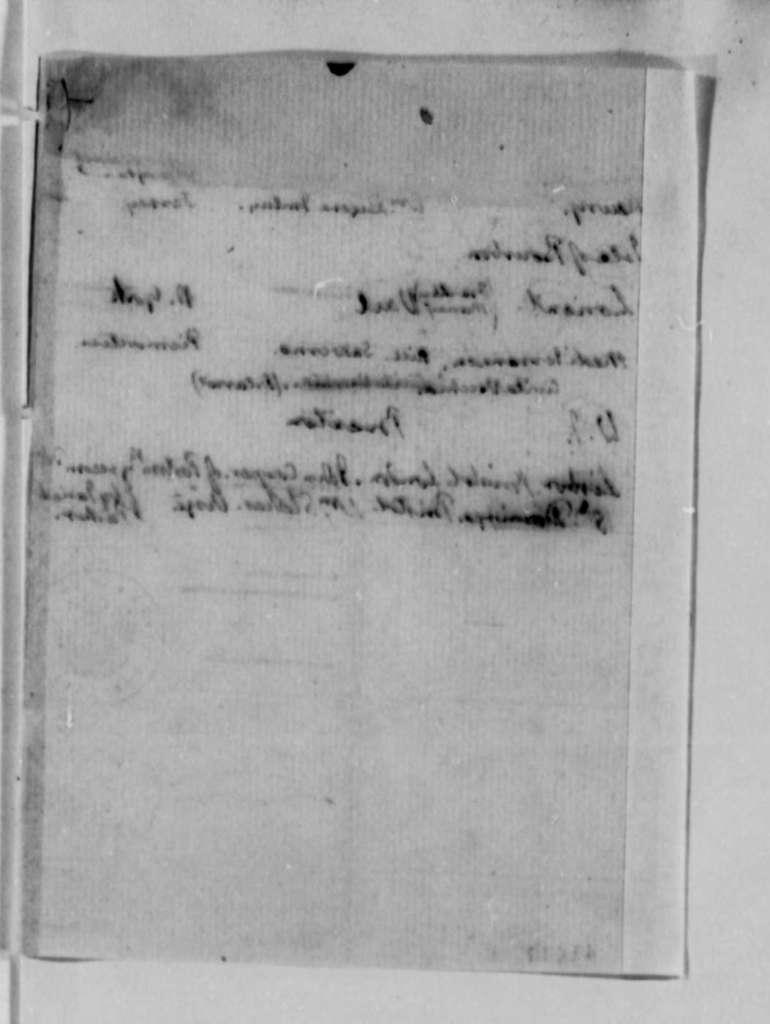 Thomas Jefferson, 1790-1793, Notes on United States Consul Candidates