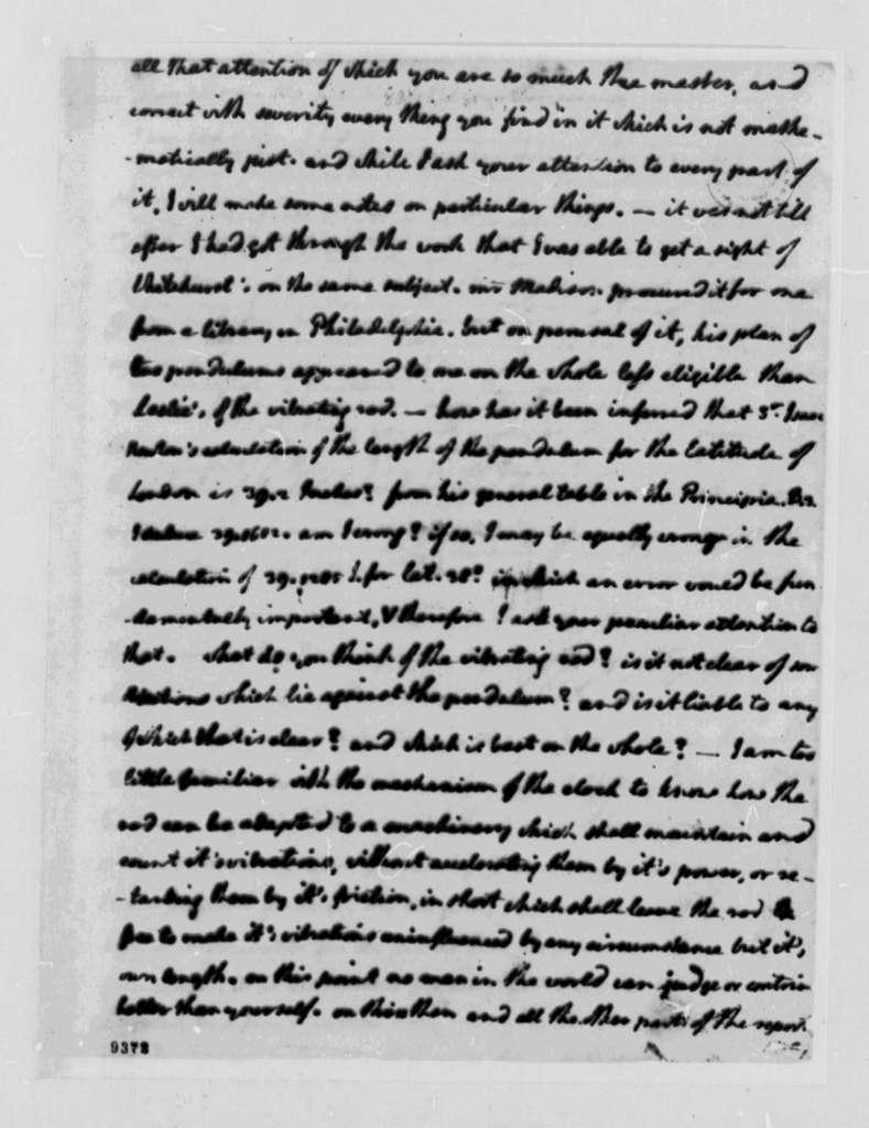 Thomas Jefferson to David Rittenhouse, June 12, 1790