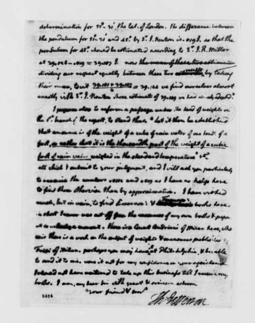 Thomas Jefferson to David Rittenhouse, June 20, 1790