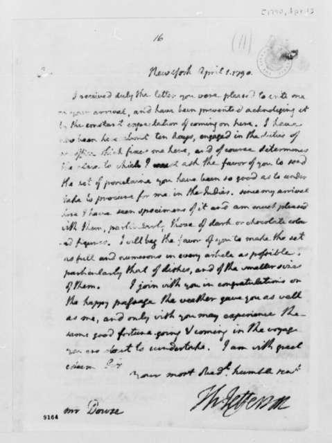 Thomas Jefferson to Edward Dowse, April 1, 1790