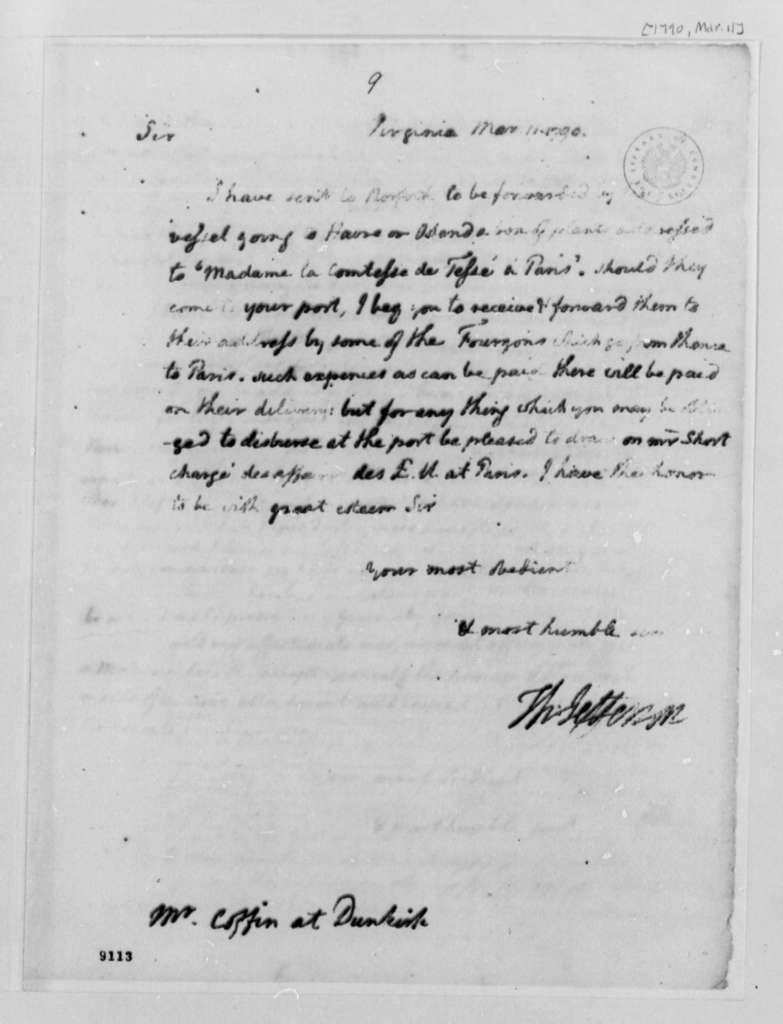 Thomas Jefferson to Francis Coffyn, March 11, 1790