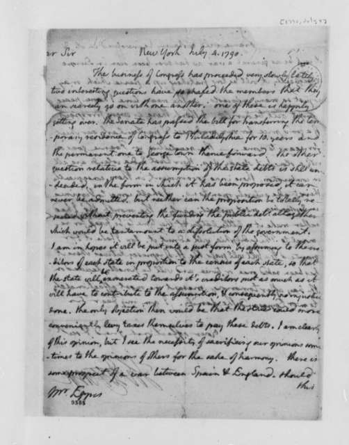 Thomas Jefferson to Francis Eppes, July 4, 1790, with Copies