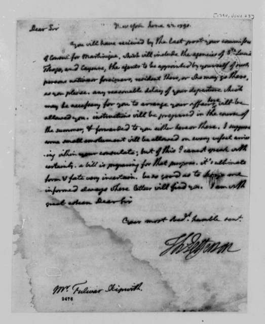 Thomas Jefferson to Fulwar Skipworth, June 23, 1790