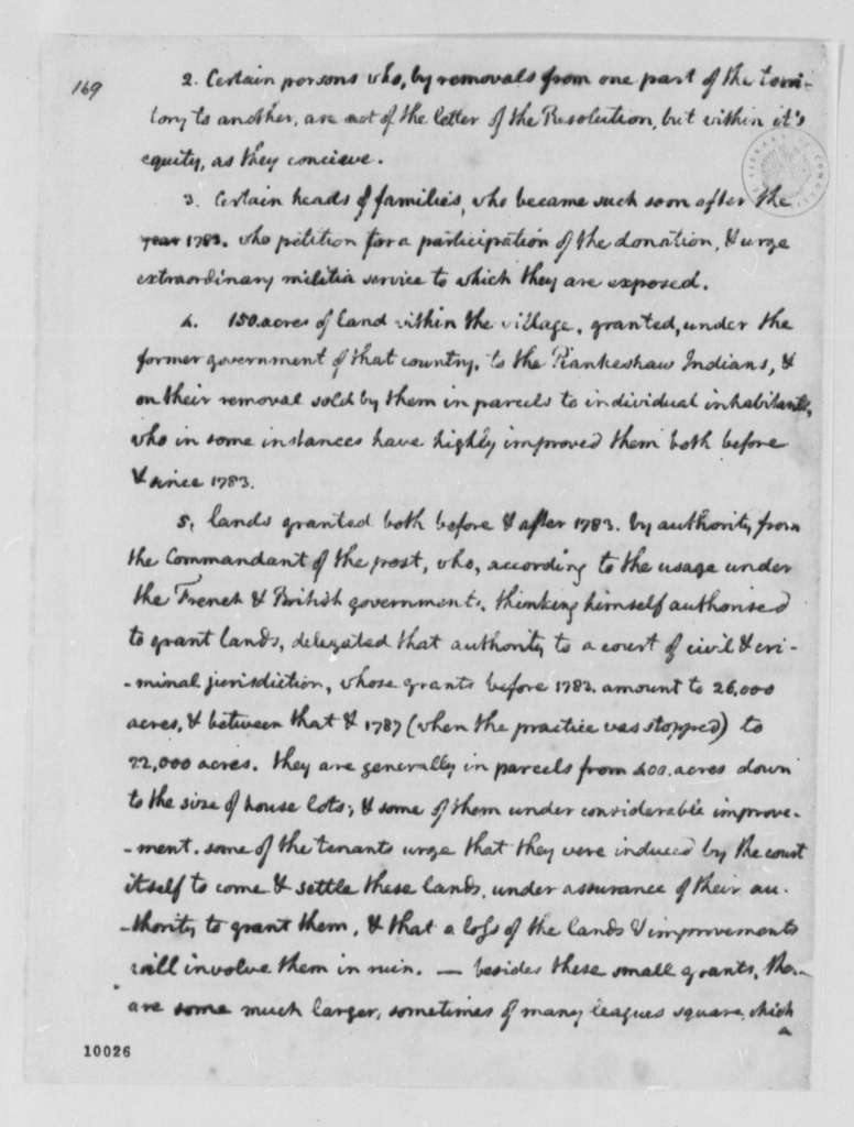 Thomas Jefferson to George Washington, December 14, 1790, Partial Transcription Available