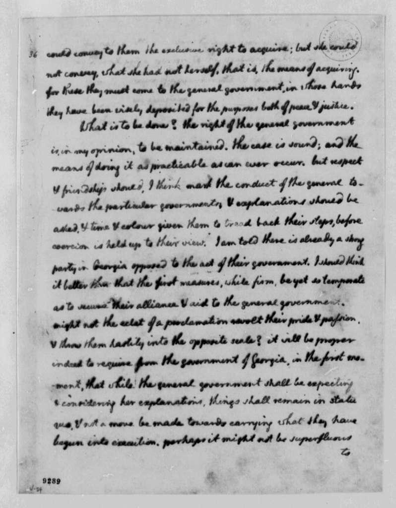 Thomas Jefferson to George Washington, May 3, 1790