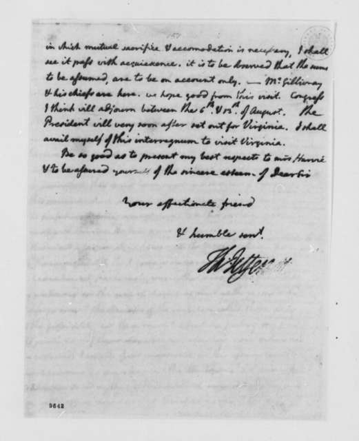 Thomas Jefferson to John Harvie, July 25, 1790, with Copy