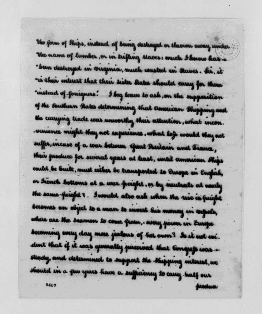 Thomas Jefferson to Josiah Parker, June 18, 1790
