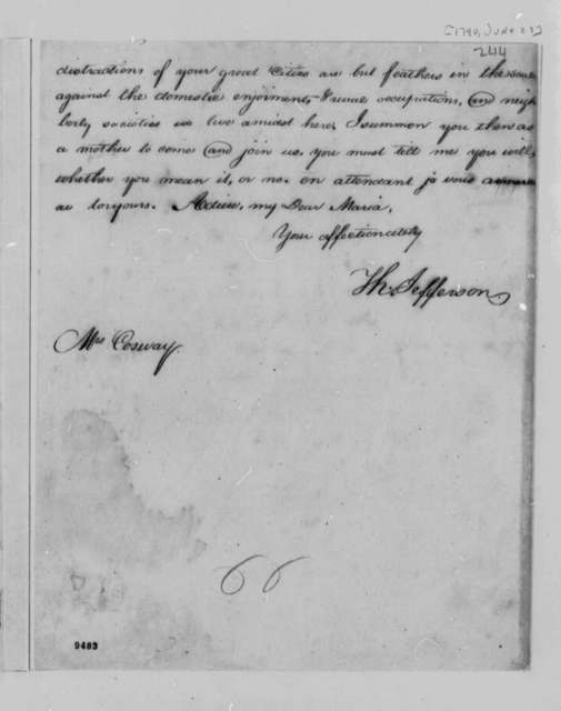 Thomas Jefferson to Maria Hadfield Cosway, June 23, 1790