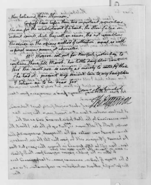 Thomas Jefferson to Nicholas Lewis, January 11, 1790