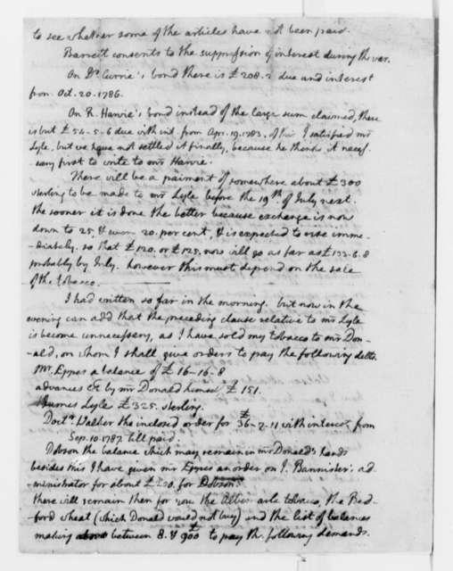 Thomas Jefferson to Nicholas Lewis, March 7, 1790