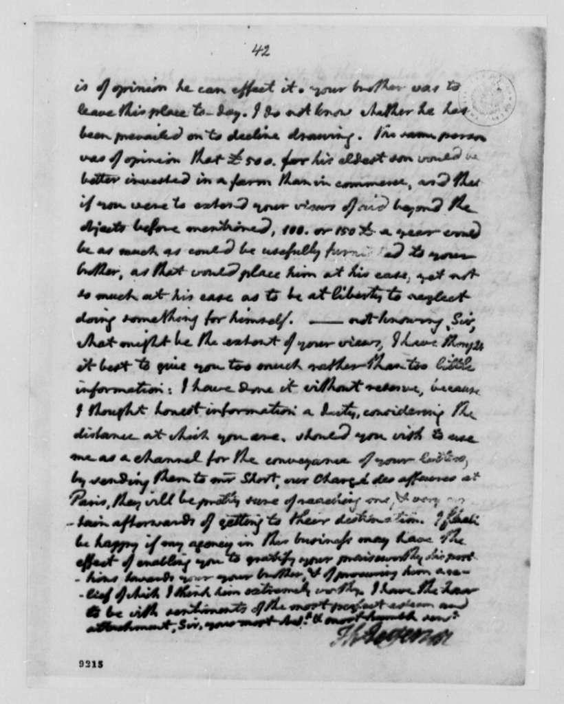 Thomas Jefferson to Thomas Boyd, April 6, 1790