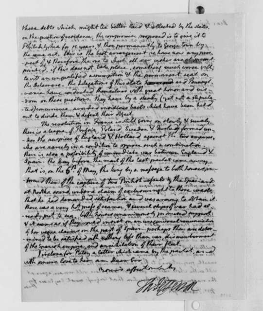 Thomas Jefferson to Thomas Mann Randolph, Jr., June 20, 1790, with Copy