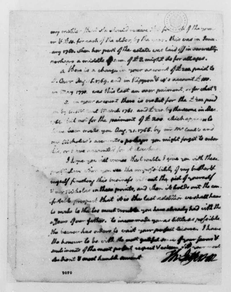 Thomas Jefferson to Thomas Walker, January 18, 1790