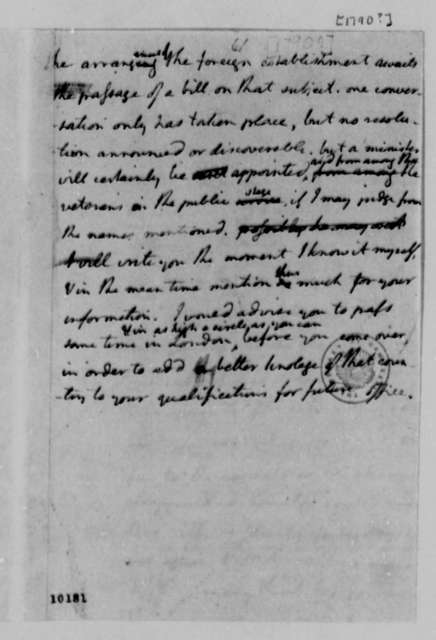 Thomas Jefferson to William Short, 1790, Note