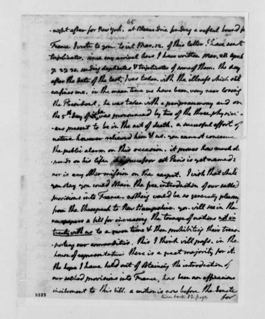 Thomas Jefferson to William Short, May 27, 1790, with Copy