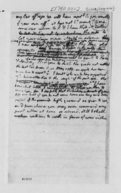 Thomas Jefferson to William Short, November 1790, Draft Notes