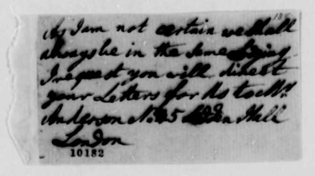 Unknown to Thomas Jefferson, 1790, Fragment