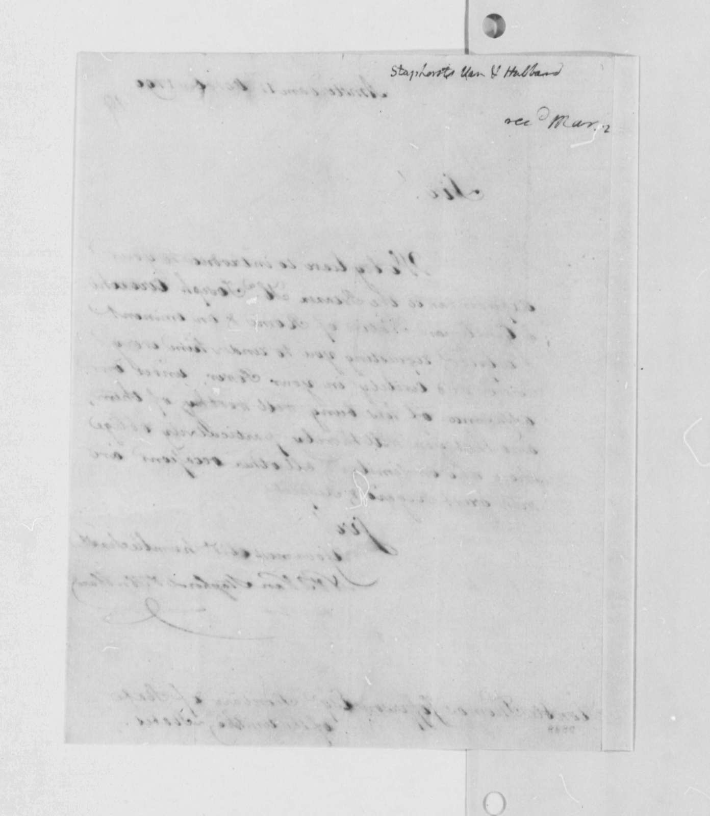 Van Staphorst & Hubbard to Thomas Jefferson, October 11, 1790