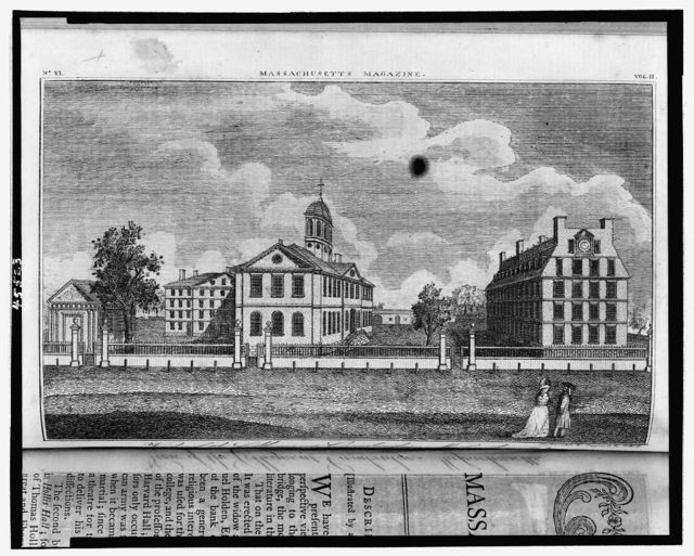View of the colleges at Cambridge, Massachusetts / delineated & engraved by S. Hill.