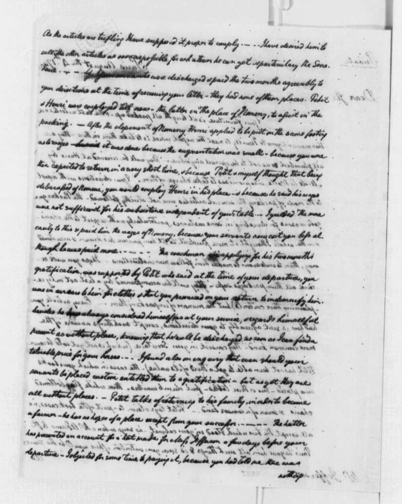 William Short to Thomas Jefferson, August 4, 1790