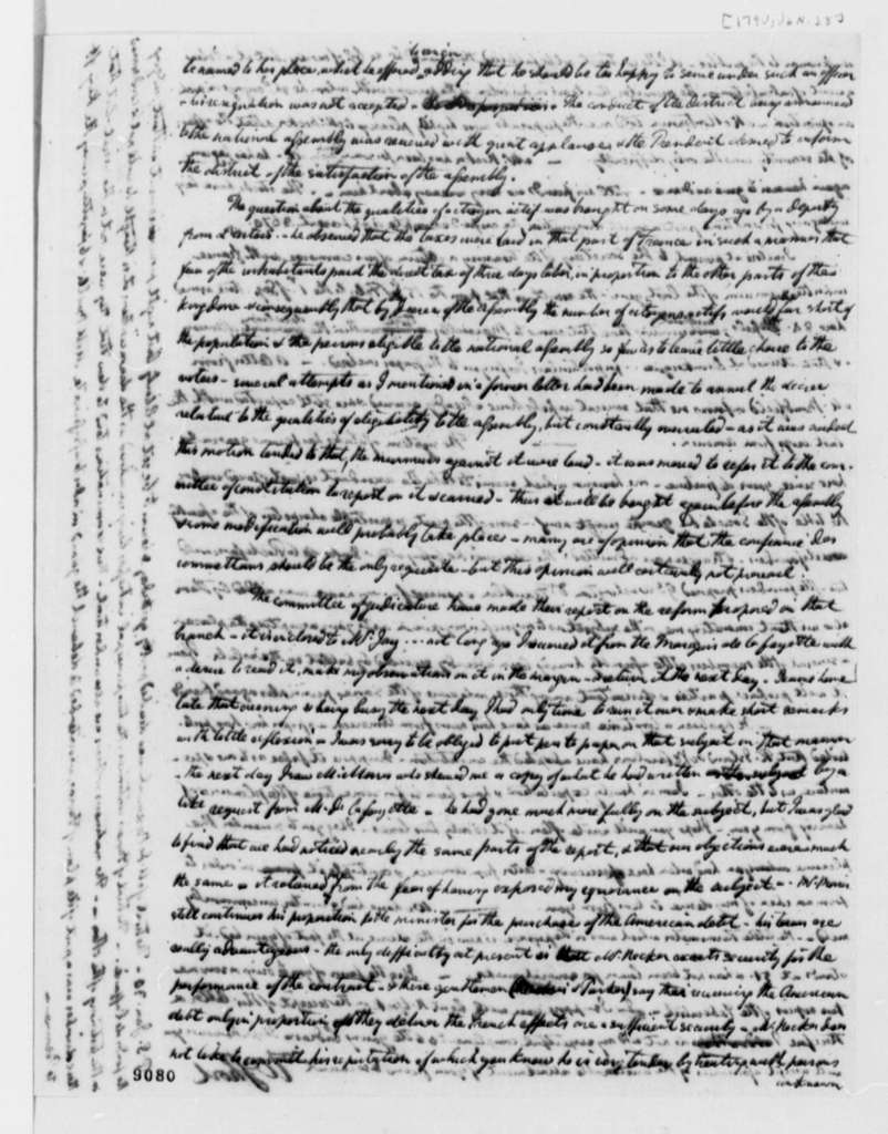 William Short to Thomas Jefferson, January 28, 1790