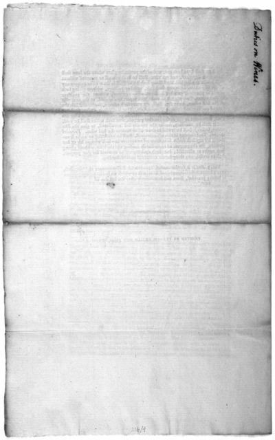 A bill, repealing, after the last day of next, the duties heretofore laid upon wines imported from foreign ports or places, and laying others in their stead. [Philadelphia] Printed by Francis Childs and John Swaine [1791].