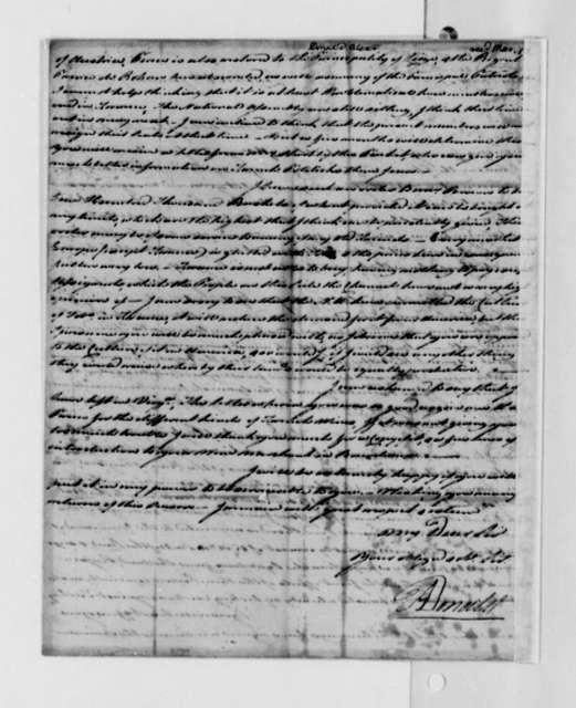 Alexander Donald to Thomas Jefferson, January 6, 1791