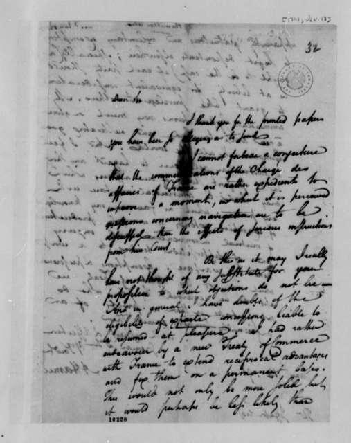 Alexander Hamilton to Thomas Jefferson, January 13, 1791