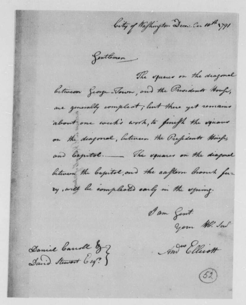 Andrew Ellicott, Surveyor to Washington, D.C., Commissioners, December 10, 1791
