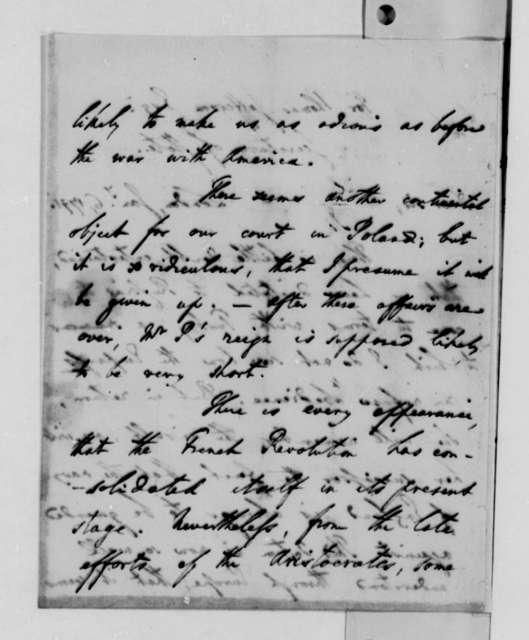 Benjamin Vaughan to Thomas Jefferson, January 6, 1791