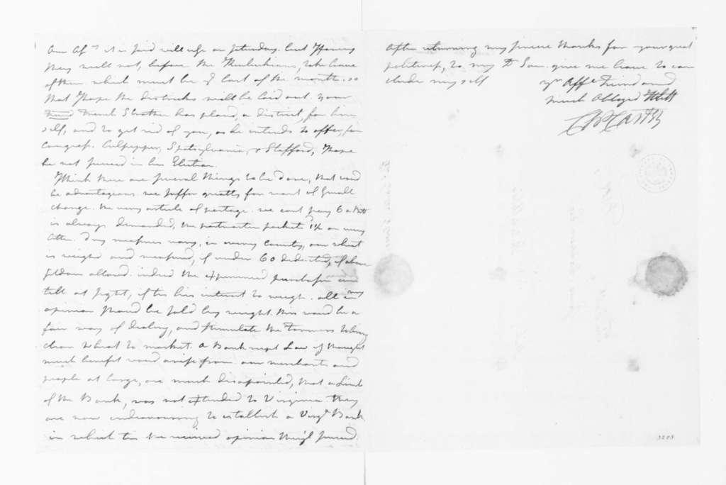 Charles Carter to James Madison, December 16, 1791.