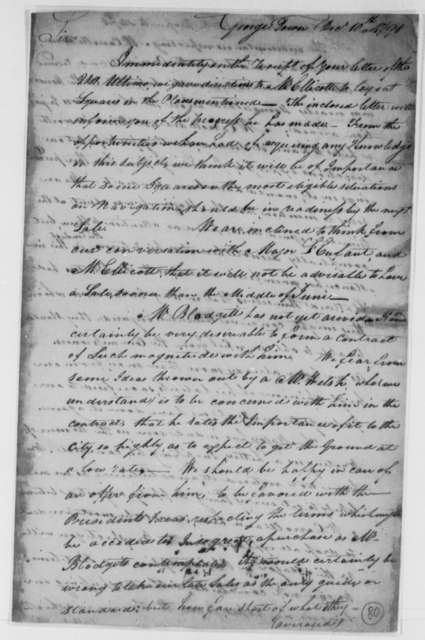 David Stuart and Daniel Carroll, Commissioners to Thomas Jefferson, December 10, 1791, Document Dated December 10th