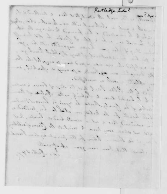 Edward Rutledge to Thomas Jefferson, October 7, 1791