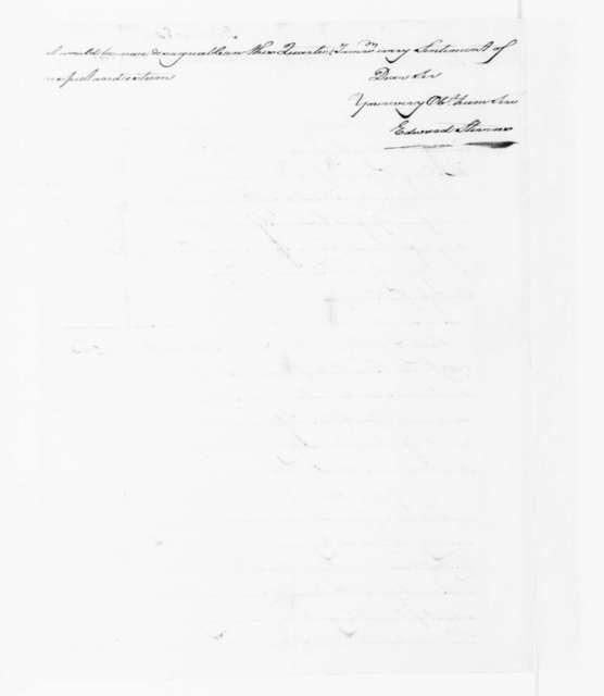 Edward Stevens to James Madison, January 21, 1791.