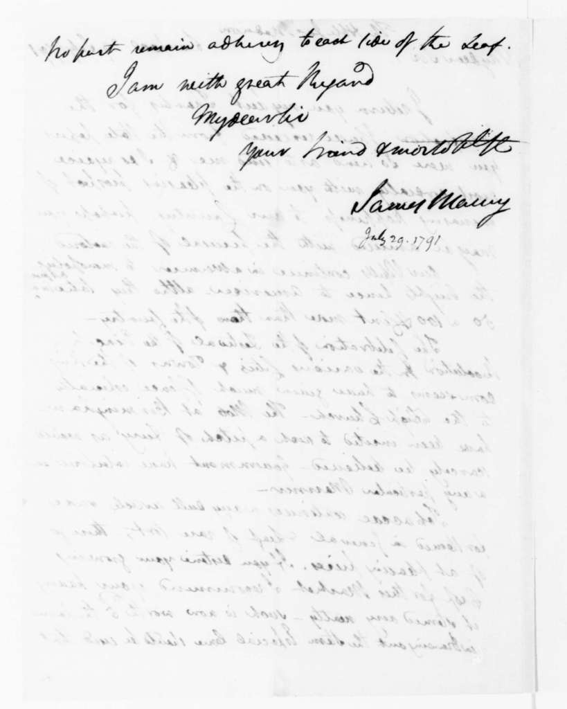 Fontaine Maury to James Madison, July 29, 1791.