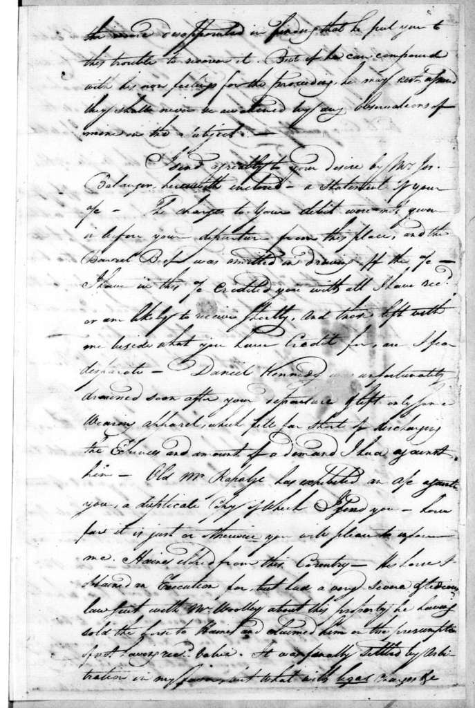 G. Cochran to Robert Hays, October 20, 1791