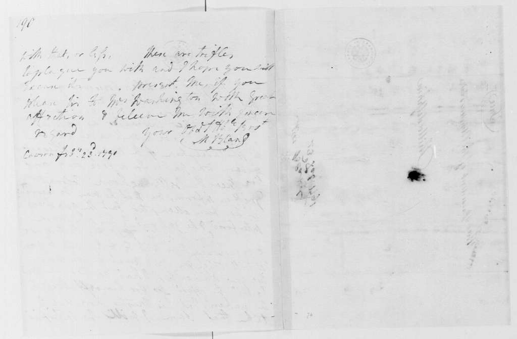 George Washington Papers, Series 4, General Correspondence: Martha D Bland to George Washington, February 23, 1791