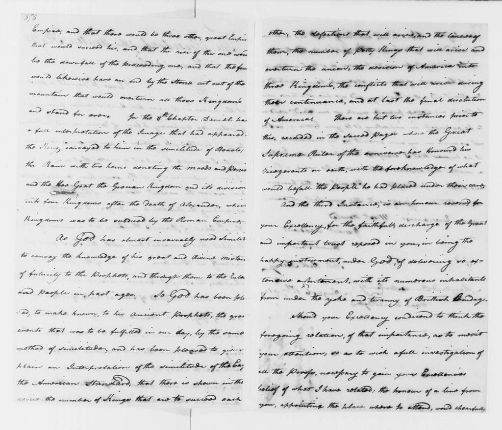 George Washington Papers, Series 4, General Correspondence: Thomas Hill Airey to George Washington, August 1, 1791