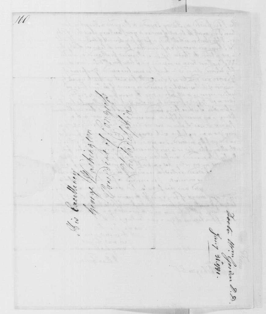 George Washington Papers, Series 4, General Correspondence: William Gordon to George Washington, January 31, 1791
