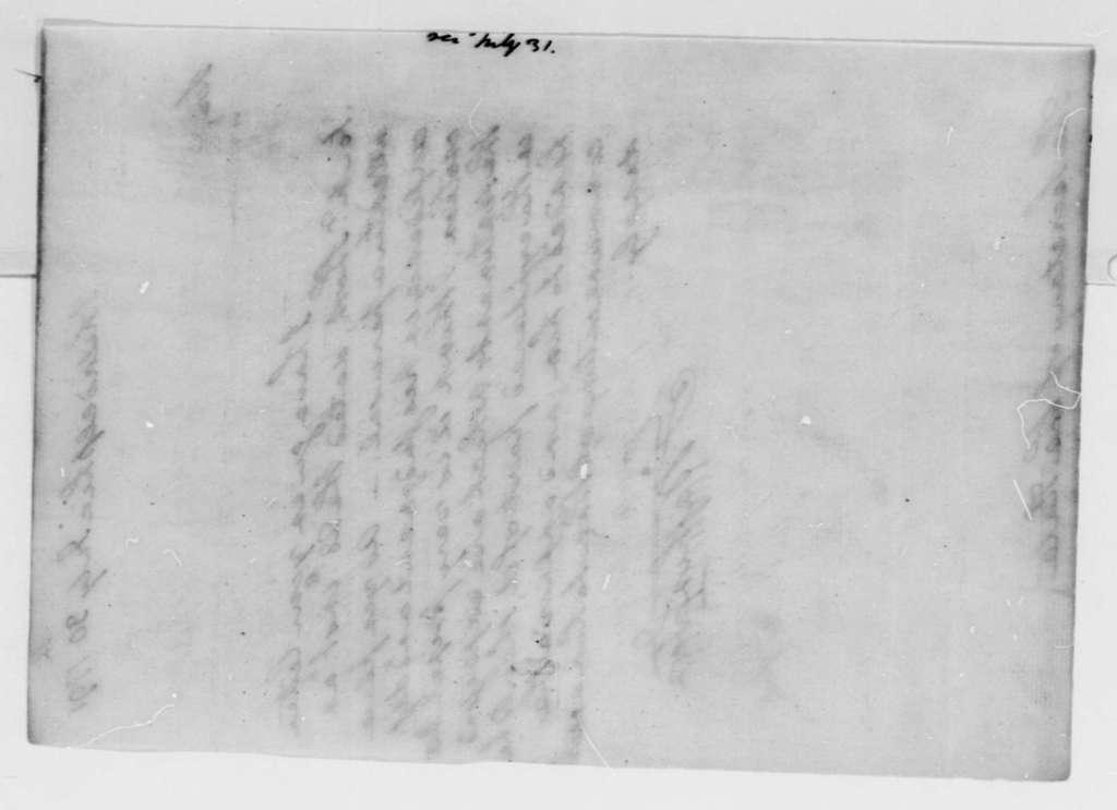 George Washington to Thomas Jefferson, July 30, 1791