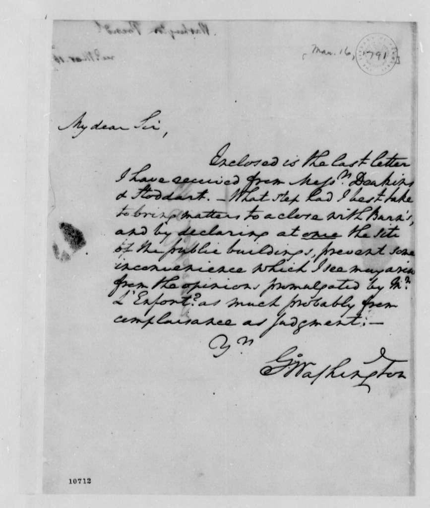 George Washington to Thomas Jefferson, March 16, 1791