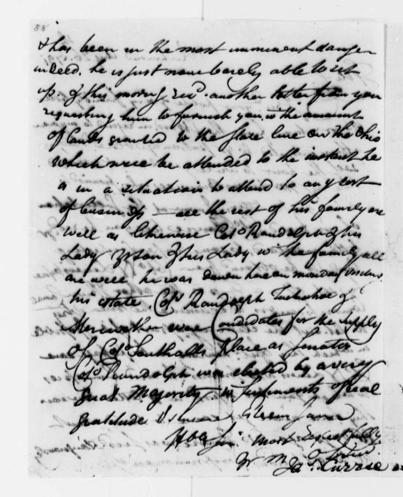 James Currie to Thomas Jefferson, August 26, 1791