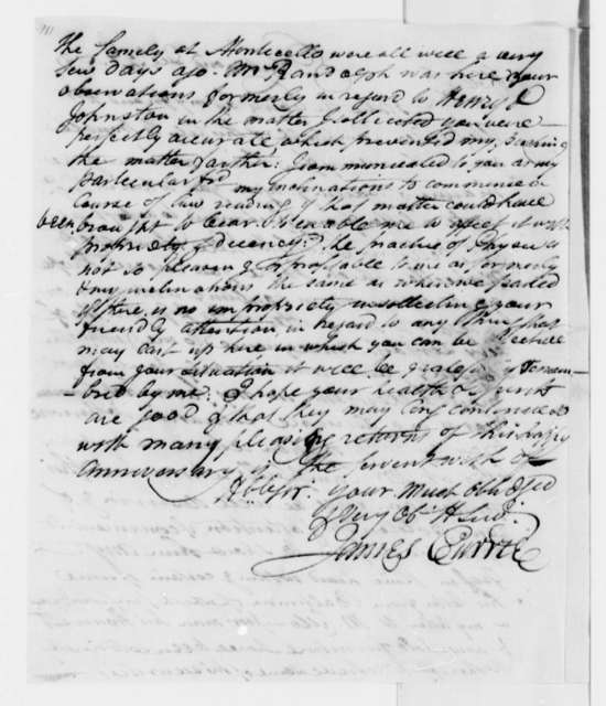 James Currie to Thomas Jefferson, December 27, 1791