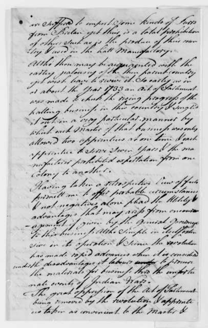 John Evans to Tench Coxe, December 16, 1791