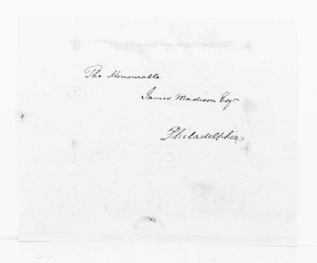 John Winston to James Madison, February 23, 1791.