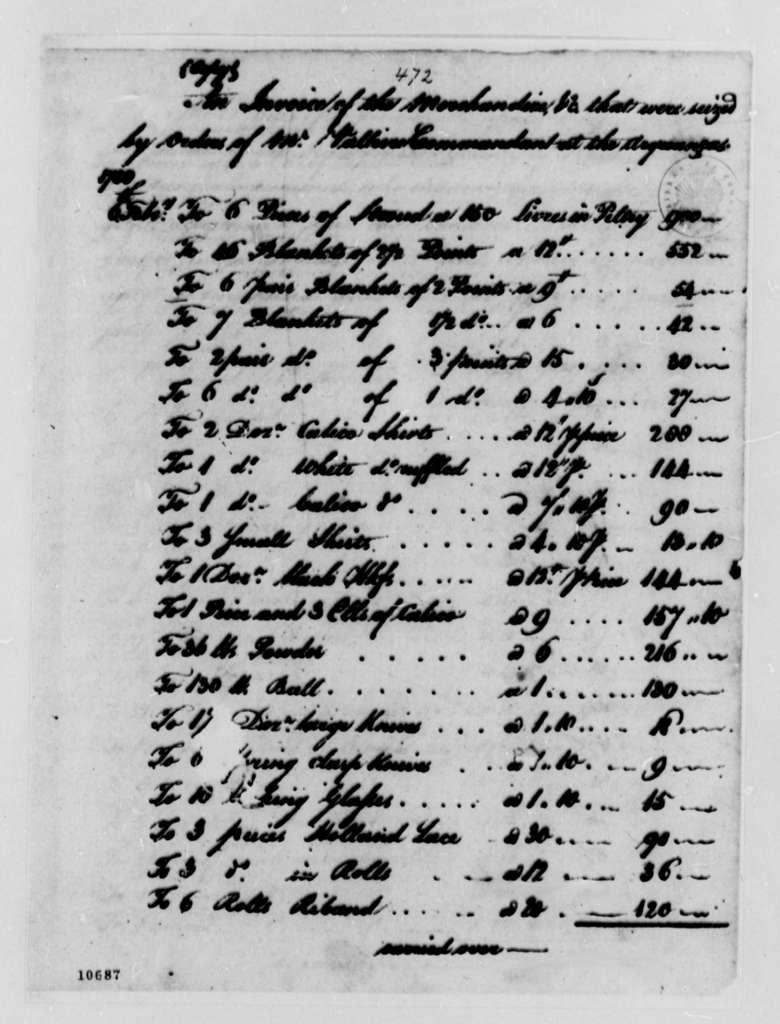 Joseph St. Marie, March 12, 1791, Spanish Government Claim