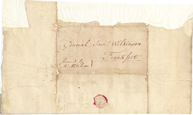 Letter from Michael Lacassagne to James Wilkinson