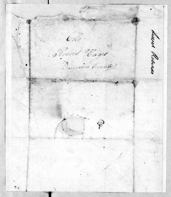 Lewis Robards to Robert Hays, January 9, 1791