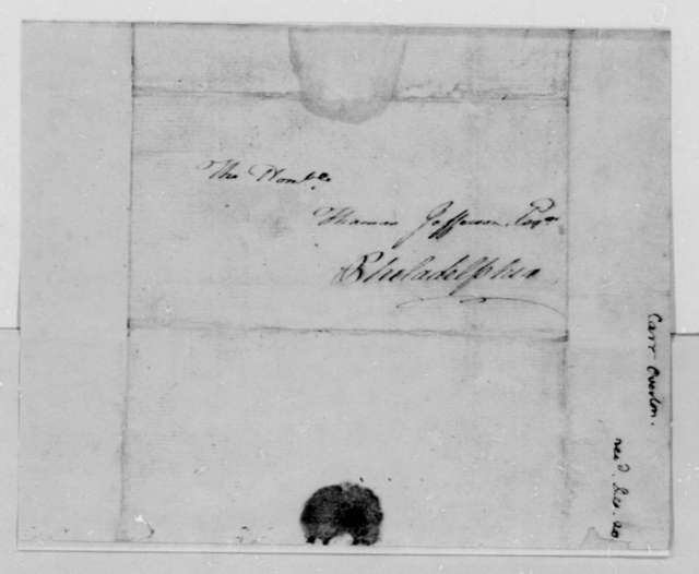 Overton Carr to Thomas Jefferson, December 4, 1791