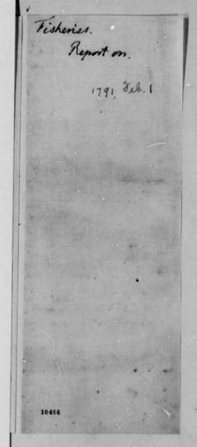 Report on Whale Fisheries, February 1791, Title Page Fragment